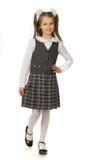 Het kersenmeisje in een eenvormige school royalty-vrije stock afbeeldingen