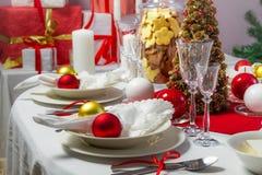 Het Kerstmisdiner was klaar royalty-vrije stock afbeelding