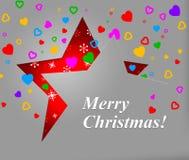 Het Kerstmishart toont Valentine Day And Christmas Royalty-vrije Stock Foto