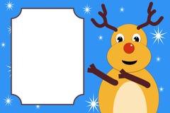 Het Kerstmishert wijst op de plaats voor de tekst Stock Foto's