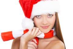 Het Kerstmismeisje royalty-vrije stock foto's