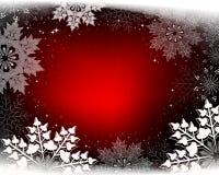 Het Kerstmisontwerp met schittert en schitterende witte sneeuwvlokken stock illustratie