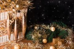 Het Kerstmisstilleven met glanst imitatie Stock Foto's