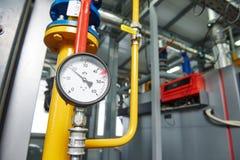 Het ketelruimmateriaal van het gas verwarmingssysteem royalty-vrije stock afbeeldingen