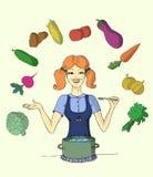 Het keukenmeisje Stock Fotografie