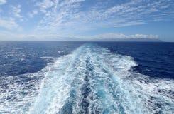 Het kielzog van de boot Royalty-vrije Stock Afbeelding