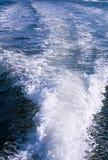 Het Kielzog van de boot Stock Afbeelding