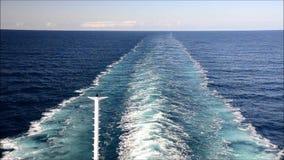 Het Kielzog van het schip stock footage