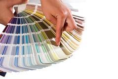 Het kiezen van de juiste kleur Royalty-vrije Stock Foto's