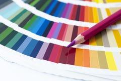 Het kiezen van kleur van het spectrum Stock Foto