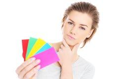 Het kiezen van kleuren Royalty-vrije Stock Afbeelding