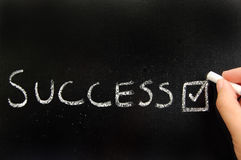 Het kiezen van succes stock afbeeldingen