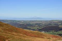 Het kijken aan Criffel over Solway-Firth stock foto