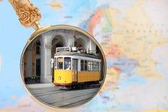 Het kijken binnen op Lissabon Portugal royalty-vrije stock foto
