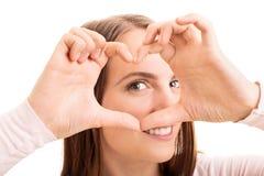 Het kijken door het hart Stock Foto's