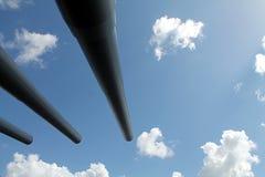 Het kijken naar de hemel van neer hieronder Stock Foto's
