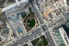 Het kijken neer van cn toren: weg Royalty-vrije Stock Afbeeldingen