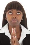 Het kijken omhoog bidt Stock Fotografie