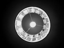 Het kijken omhoog de lamp in zwart-wit Stock Afbeelding
