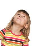 Het kijken omhoog glimlachend meisje Royalty-vrije Stock Foto