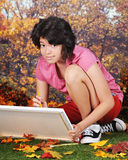 Het kijken omhoog van Haar Art. Royalty-vrije Stock Foto's