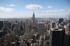 Het kijken onderaan Manhattan Stock Foto