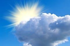 Het kijken uit over grote wolk Royalty-vrije Stock Afbeelding