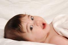 Het kijken van de baby Stock Foto's