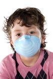 Het kind besmette met griep A Royalty-vrije Stock Afbeeldingen