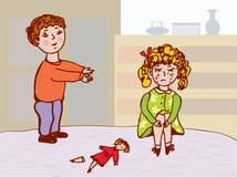 Het kind betreurt - communicatie regels Royalty-vrije Stock Fotografie