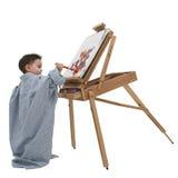 Het Kind dat van de jongen 01 schildert Royalty-vrije Stock Fotografie