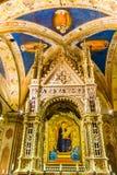 Het Kind die van Daddimadonna Orsanmichele-Kerk Florence Italy schilderen royalty-vrije stock fotografie