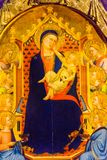 Het Kind die van Daddimadonna Orsanmichele-Kerk Florence Italy schilderen stock afbeelding