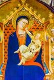 Het Kind die van Daddimadonna Orsanmichele-Kerk Florence Italy schilderen stock fotografie