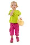 Het kind eet snack royalty-vrije stock fotografie