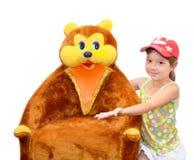 Het kind en het stuk speelgoed Stock Foto
