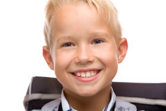 Het kind glimlacht gelukkig royalty-vrije stock foto