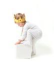 Het kind is koning Stock Foto's