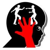 Het kind lijdt wanneer de ouders vechten Stock Afbeeldingen
