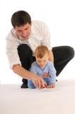 Het kind met stuk speelgoed royalty-vrije stock foto