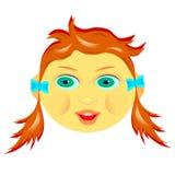 Het kind` s gezicht royalty-vrije stock afbeeldingen
