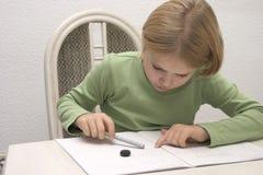Het kind schrijft Royalty-vrije Stock Fotografie
