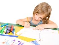 Het kind trekt royalty-vrije stock fotografie