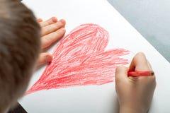 Het kind trekt Royalty-vrije Stock Afbeeldingen