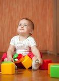 Het kind van éénjarigen met speelgoed Royalty-vrije Stock Afbeelding