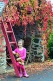 Het kind van de herfst Stock Foto's