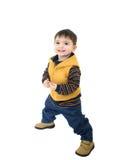 Het Kind van de jongen in de Kleren van de Daling stock afbeeldingen