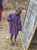 Het kind van de Masaischool royalty-vrije stock foto's