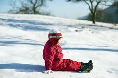 Het kind van de winter Stock Afbeelding