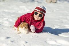 Het kind van de winter Stock Foto